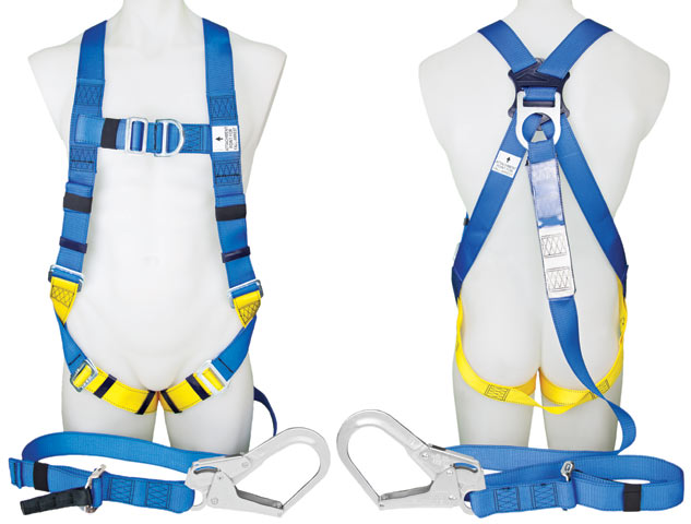 Harness - Industrial 3M Protecta P50 1390064A c/w Integral Adjustable 2.0M Lanyard & Scaffold Hook/Front/Rear D Rings - M
