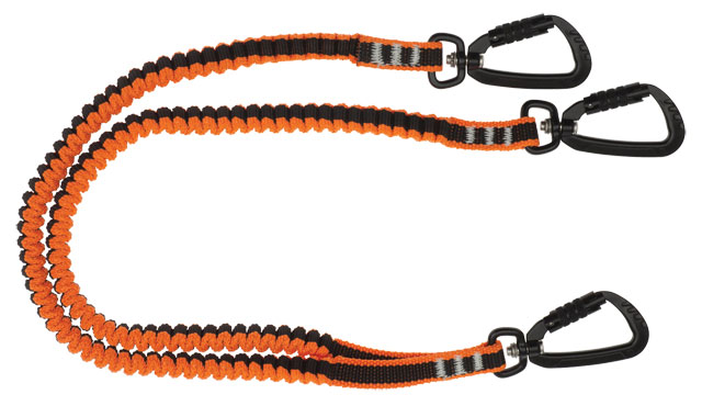Tool Lanyard - Coil Tether LinQ with 3 x Double Action Karabiners