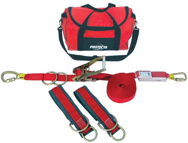 Lifeline - Temporary Horizontal System 3M Protecta 1200101 Webbing Rated for Two Users - 18.0M