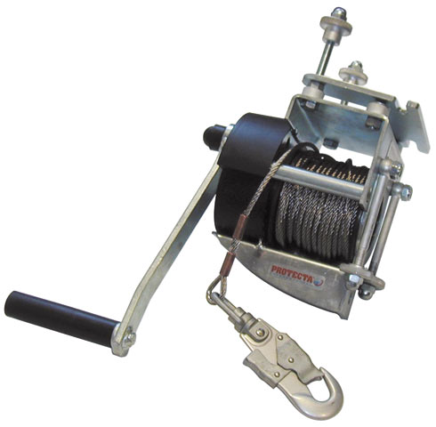 Winch - Rescue 3M Protecta AT200/I20 c/w Automatic Locking System & Mounting Bracket - 20M