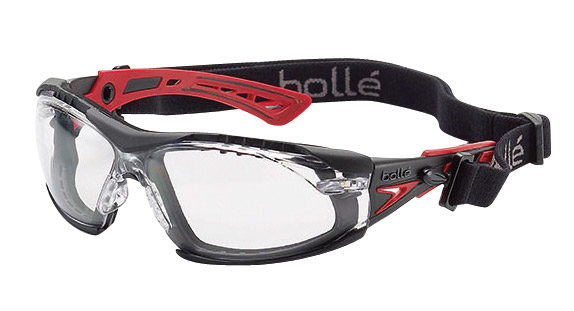 Spectacle - Clear Bolle Rush Plus Seal Platinum AS/AF Lens c/w Gasket & Strap