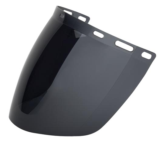 Visor - Smoke ProChoice Polycarbonate AF 405mm x 205mm - Extra High Impact