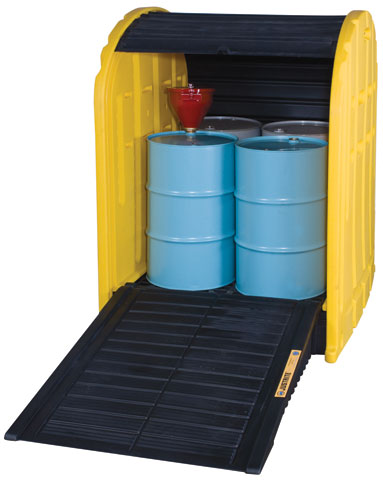 Drum Shed - EcoPolyBlend 4 Drum 301L Capacity c/w Low Line Pallet