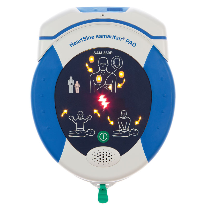 Defibrillator - HeartSine 360PG - AED - fully automatic Gateway (WiFi) bundle - incl carry case and Gateway Module & 3D Sign - 8 Year Warranty