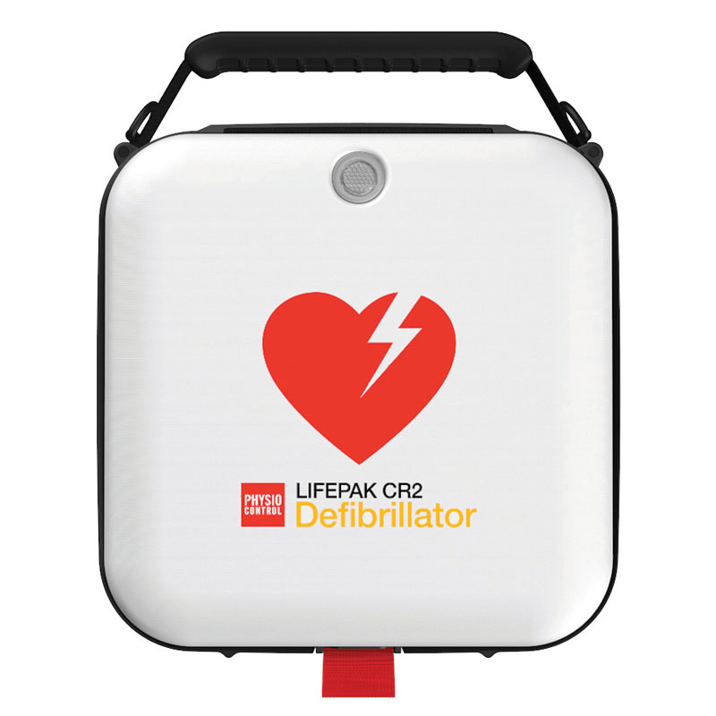 Defibrillator - LIFEPAK CR2 AED Connected Wi-Fi - semi automatic with carry case and full instructions - 8 Year Warranty