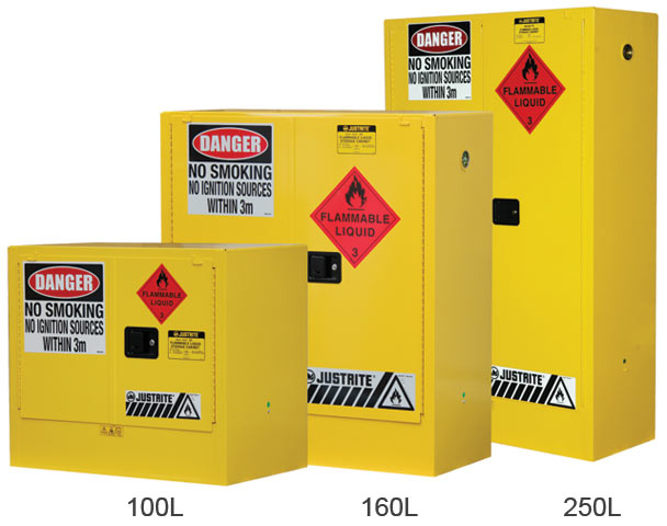 Cabinet - Flammable Liquids Storage Justrite Yellow - 250 Litres