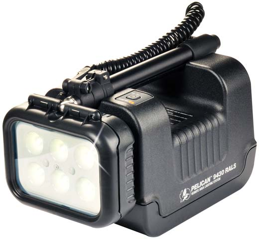Light - Remote Area System Pelican 9430 Single Head Rechargeable - Black