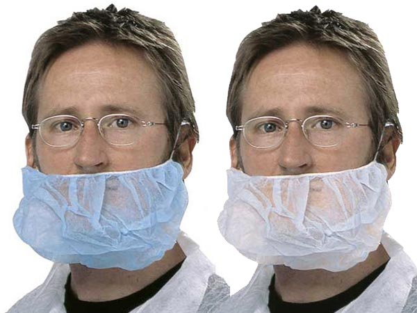 Beard Covers - Disposable PP Pro-Val Double Loop - Blue