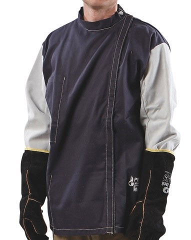 Jacket - Welders Pyromate Pyrovatex Drill Velcro Front Kevlar Stitched - L