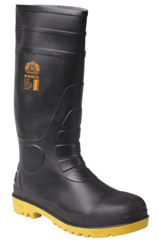 Gumboot - Safety Kings PVC/Nitrile 400mm Black/Yellow - 3