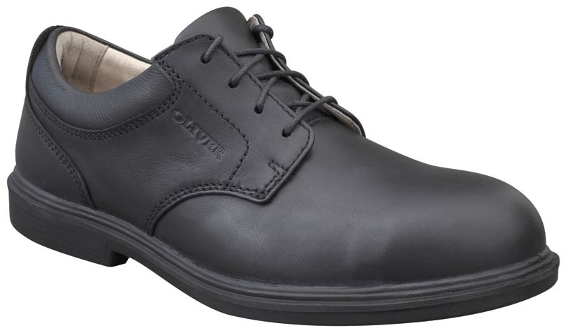 Shoe - Lace Up Safety Oliver 38275 Executive Soft Touch Full Grain Leather DDPU Sole Water Resistant Black - 6