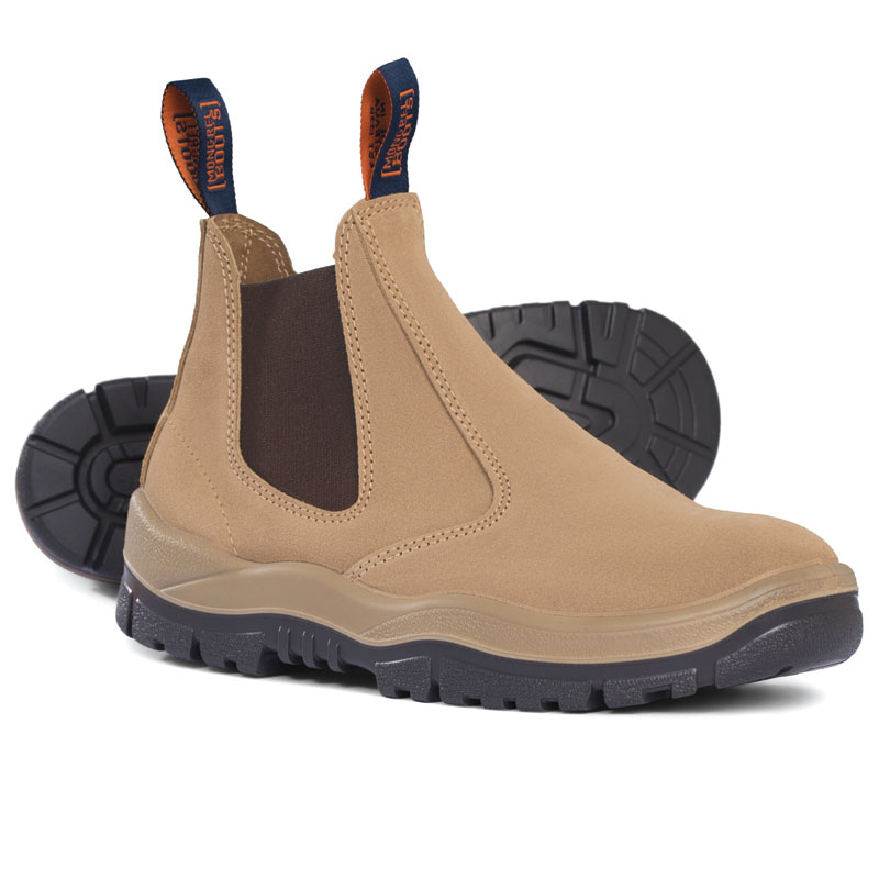 Boot - Safety Mongrel 240040 Suede Elastic Sided DD TPU Sole Wheat - 5