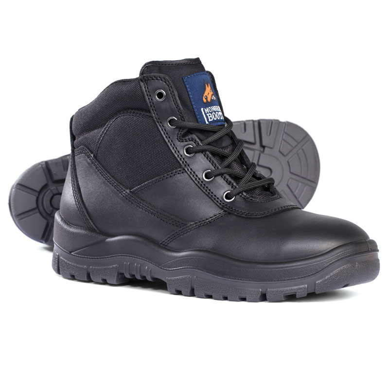 Boot - Safety Mongrel 260020 Ankle Lace-Up Padded DD TPU Sole Black - 3