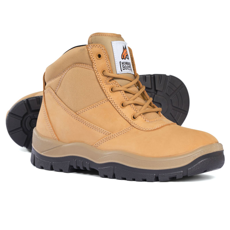 Boot - Safety Mongrel 260050 Ankle Lace-Up Padded DD TPU Sole Wheat - 3