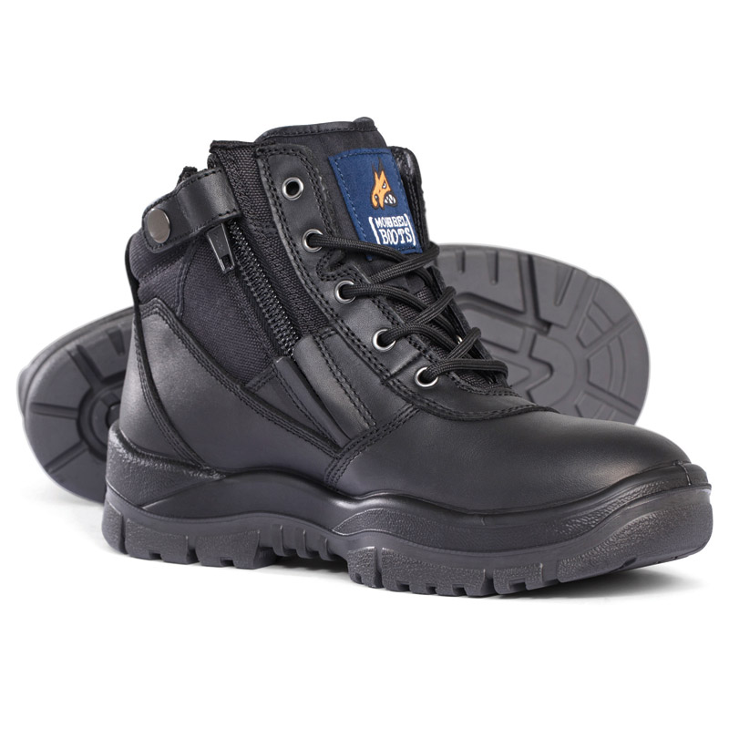 Boot - Safety Mongrel 261020 Zip Sided Lace Up DD/TPU Sole Black - 3