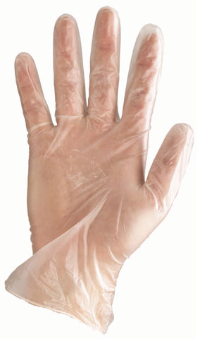 Glove - Vinyl Disposable Pro-Val (TNA) All Clear LP Lightly Powdered Clear - S