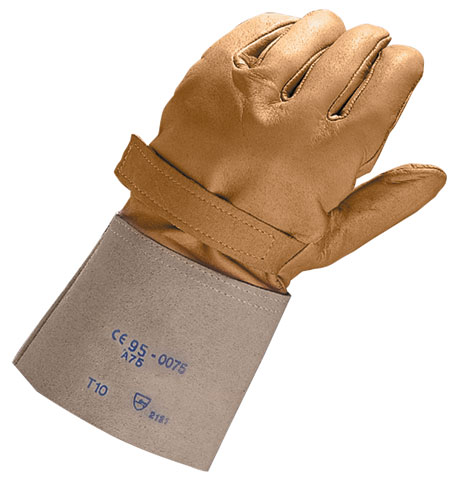 Glove - Leather Electrician Overglove Honeywell Cowhide Silicone Grain Class 00 & 0 1000V 310mm Beige - 8