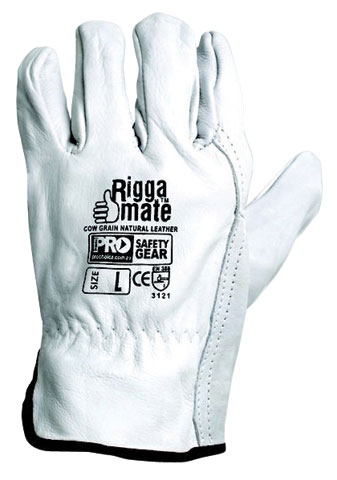 Glove - Leather Rigger ProChoice Riggamate Cow Grain Natural - S