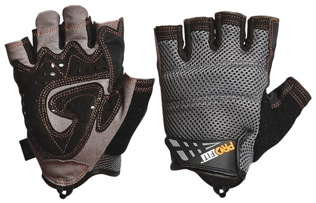 Glove - Leather Synthetic ProFit Fingerless - S