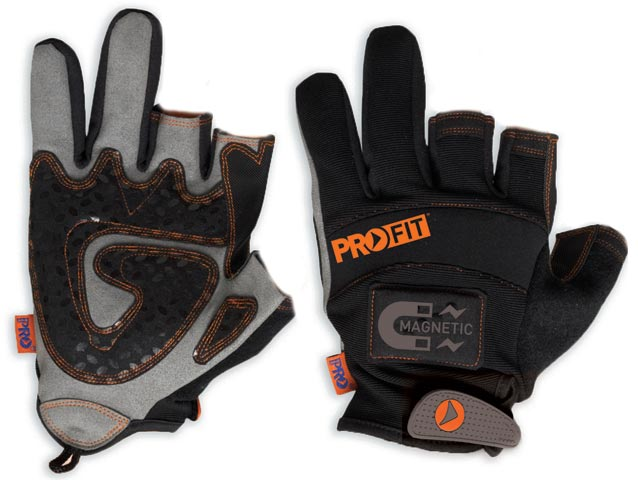 Glove - Leather Synthetic ProFit MagnaTech 2 Fingers & Magnetic Back - S
