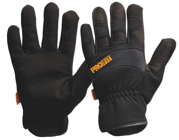 Glove - Leather Synthetic ProFit Riggamate PFR Black - S