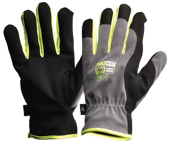 Glove - (NLA) Leather Synthetic ProFit Riggamate Silver - S