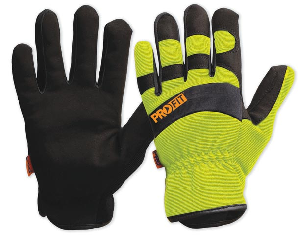 Glove - Leather Synthetic ProFit Riggamate PFR Hi Vis Yellow - S
