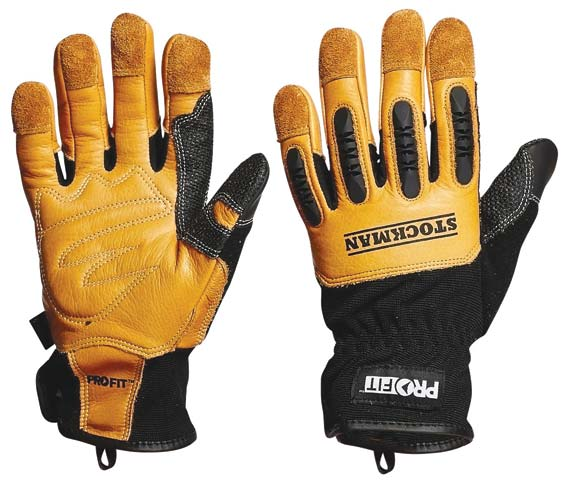 Glove - (NLA) Leather Synthetic PRO-FIT Stockman - S