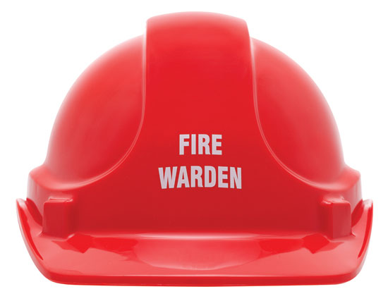 Cap - Safety ABS 3M TA560 Non-Vented (Type 1) Terylene Headgear Fire Warden - Red