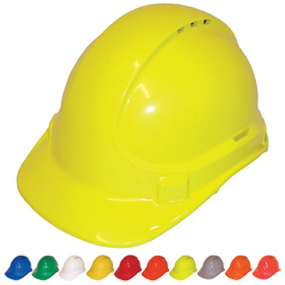 Hard Hat - Safety ABS 3M TA570 Vented (Type 1) Terylene Headgear - Blue