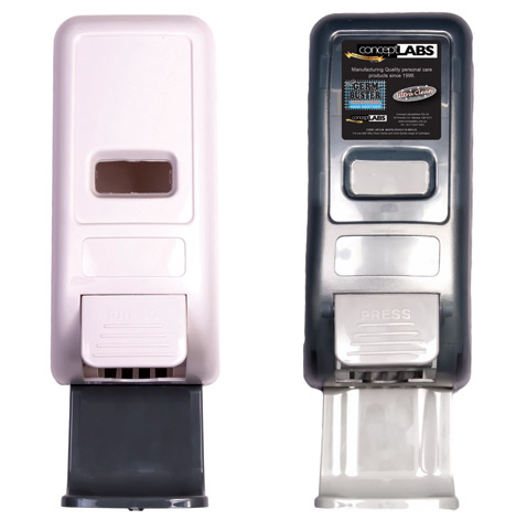 Dispenser - Ultra Manual suits 1L Cartridge for Ultra Clean Hands/Germ Buster - Black
