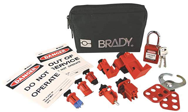 Lockout Pouch - Electricians Brady 848284 Mini Lockout Pouch