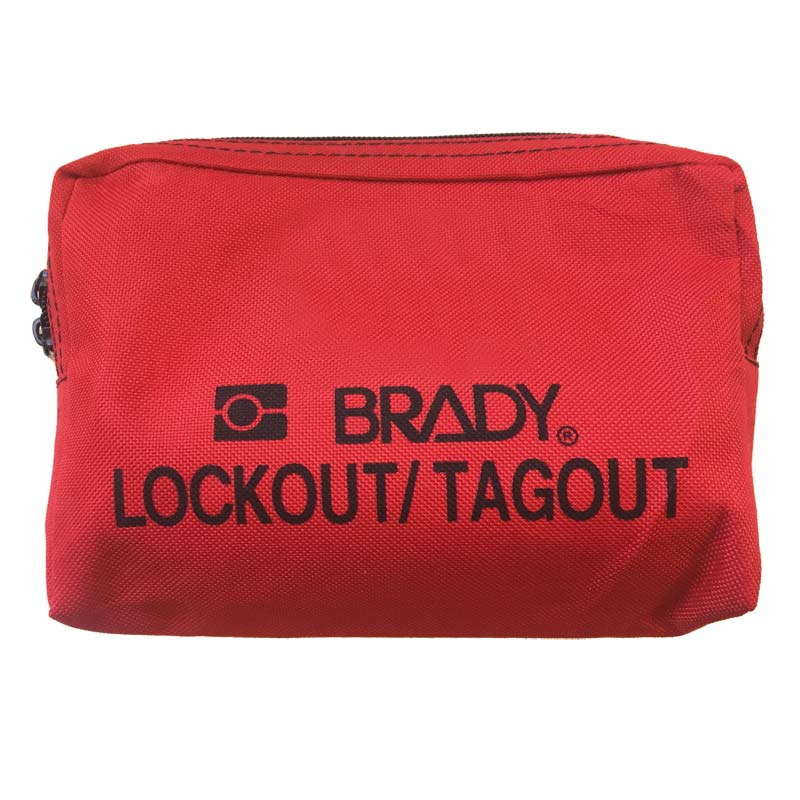 Lockout Tagout Pouch - Brady 873480 with Keycord Red