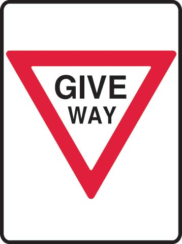 Sign - Metal Site 'Give Way' 450mm x 600mm