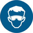Sign - Vinyl SS 'Goggle' Pictogram 200mm Disc