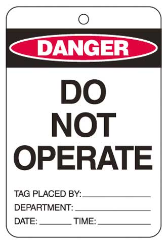 Lockout Tag - Poly Danger 'Do Not Operate' Brady 842377 150mm x 100mm