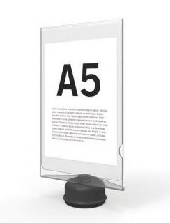 Bollard Sign Holder - Clear Acrylic A5 double sided for Pilot Twist Lock Receivers