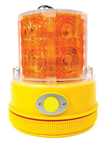 Beacon - LED Portable Traffic Vision Safe 360° Battery Operated (2 x D = not included) Magnetic Base - Amber