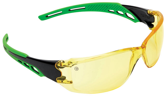 Spectacle - Amber ProChoice Cirrus MI AF/HC Lens Green Side Arms