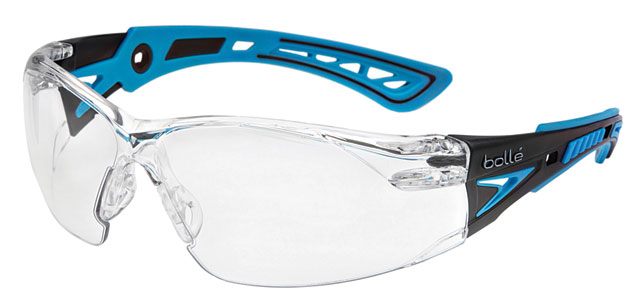 Spectacle - Clear Bolle Rush Plus Small Black/Blue Temple Platinum AS/AF Lens