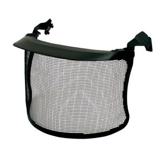 Visor - Mesh 3M Peltor V4A - NA (REFER PRODUCT CODE VVM4G FOR NEAREST EQUIVALENT)  LI Steel Mesh Matt Finish c/w Adaptors - 130mm x 155mm