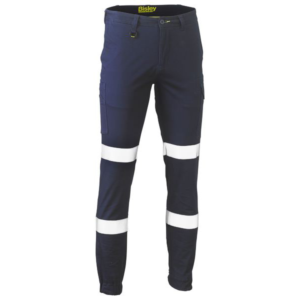 Trouser - Bisley BPC6028T Cargo Stretch Cotton Drill 280gsm Mid Rise Navy Taped Biomotion - 77R