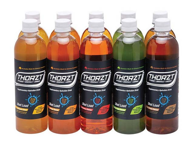 Electrolyte Drink - Thorzt Low GI Shot Load Liquid Concentrate 10 x 600ml Bottle Mix Pack