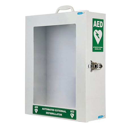 Cabinet - AED Wall Cabinet - white Australian Resus Council Approved with signage (510mm x 370mm x 145mm)