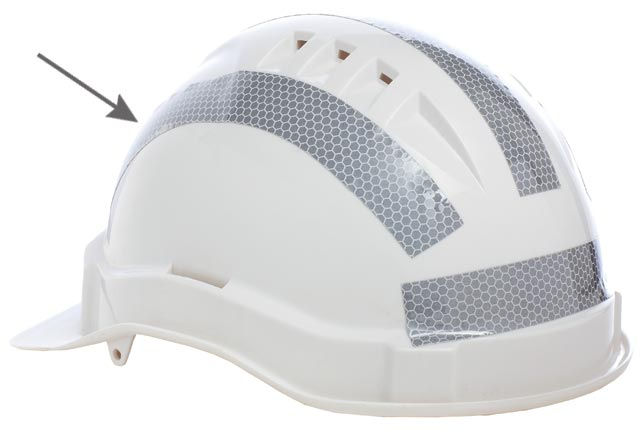 Tape - Reflective 25mm Adhesive Curved for ProChoice Hard Hats - Silver