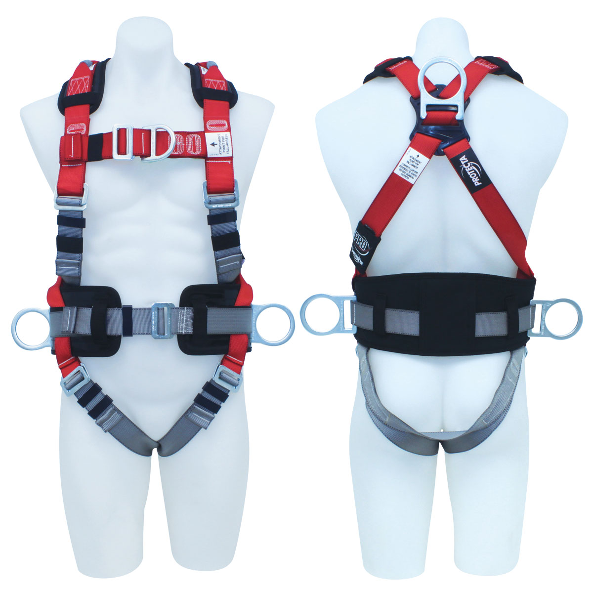 Harness - All Purpose 3M Protecta P100 AB124L c/w Rear/Front/Side D Rings & Retrieval Points/Waist Belt & Padded Back Pad - L