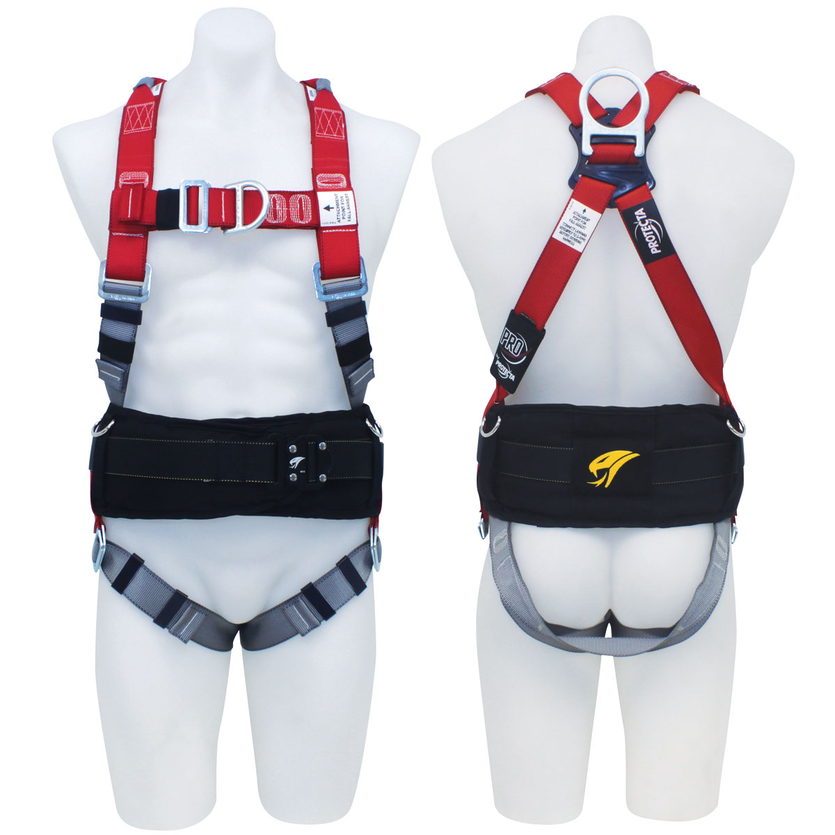 Harness - Scaffolders 3M Protecta P100 AB125L c/w Front/Rear D Rings & Retrieval Points Incl. Padded Tool Belt - L