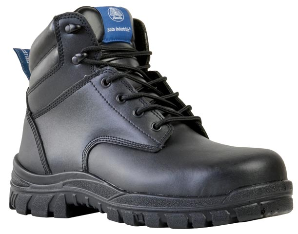 Boot - Safety Mens Bata Saturn 705-60510 Ankle Lace Up Padded Collar DD PU Sole Black - 2