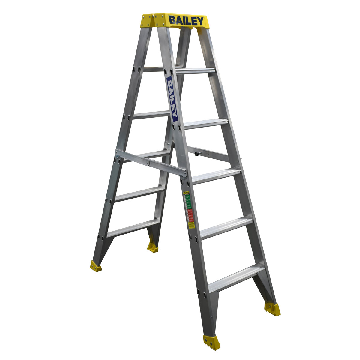 Ladder - Double Sided Aluminium Bailey Pro Industrial Punchlock 150kg 6-Step 1.8M