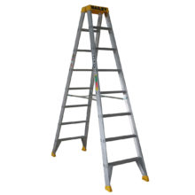 Ladder - Double Sided Aluminium Bailey Pro Industrial Punchlock 150kg 8-Step 2.4M